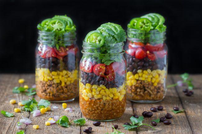 """Résultat de recherche d'images pour """"Taco Salad in a Jar"""""""
