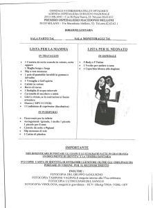 Travaglio e parto la lista per la mamma dell 39 ospedale - Lista di cose da portare in ospedale per il parto ...