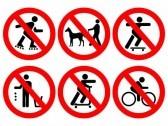 cartello regole parco giochi