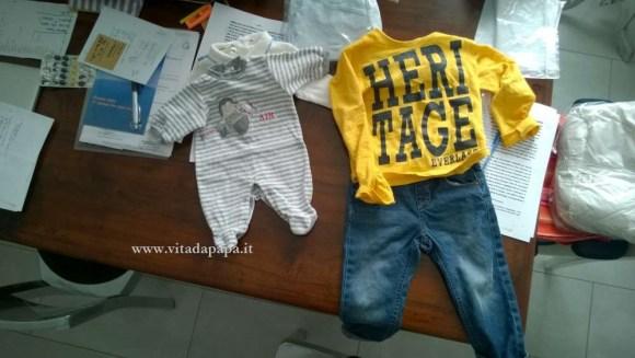 vestiti bimbo piccolo e grande