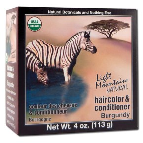 Natural Hair Color & Conditioner, Burgundy, 4 oz, Light Mountain Henna