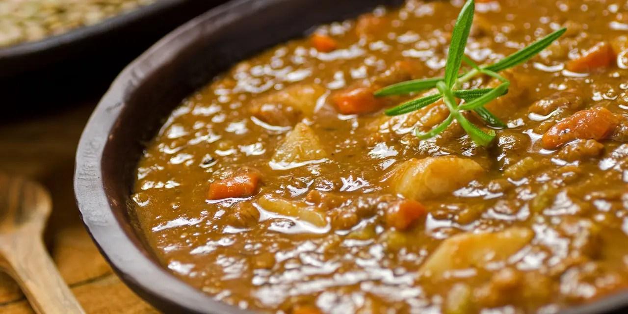 Risultati immagini per zuppa vegana di lenticchie