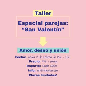 Taller San Valentín