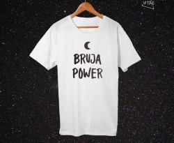 Camiseta Bruja Power blanca