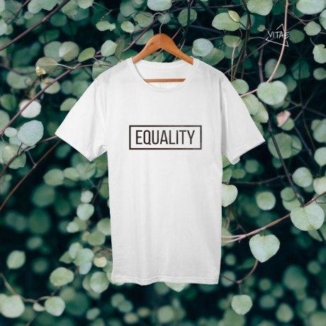 Camiseta Equality blanca chica