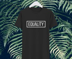 Camiseta Equality negra chico