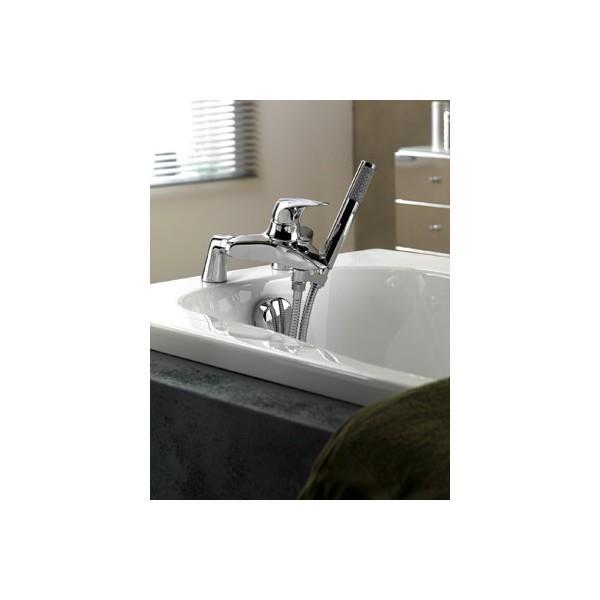 support pour douchette en laiton chrome sous robinet cristina ondyna su28551