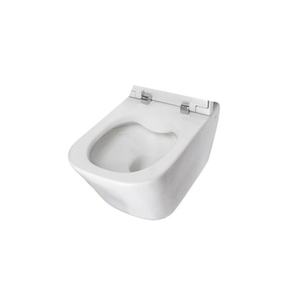 cuvette de wc suspendue en porcelaine sans bride rimless blanc the gap roca a34647l000