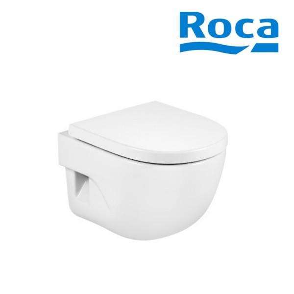 cuvette de wc suspendue compacte en porcelaine bride fermee blanc meridian roca a346248000
