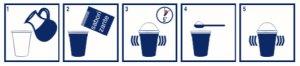 instrucciones de cómo preparar batido de proteina con casein pro