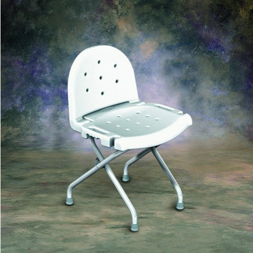 carex shower chair blue lounge invacare folding 9981, 9981