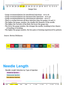 Gauge numbers are arranged so that the highest number represents smaller needle width while lowest represent largest also syringe and selection guide by burt cancaster rh vitalitymedical