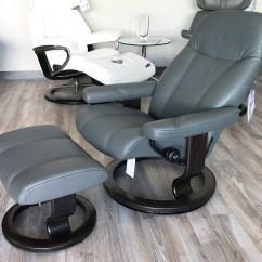 Grey Oversized Chair With Ottoman Office Brands Stressless Consul Recliner And Batick