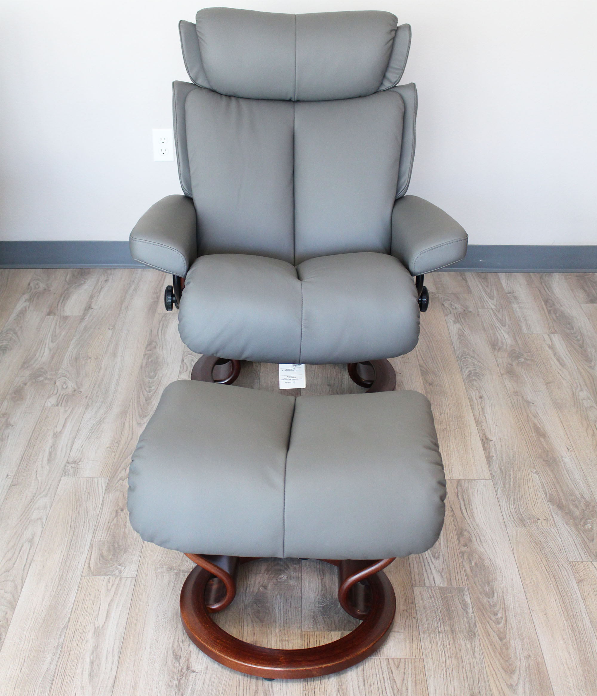 Stressless Magic Paloma Metal Grey Color Leather by
