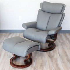 Recliner Chair Covers Grey Scandinavian Design Stressless Magic Paloma Metal Color Leather By