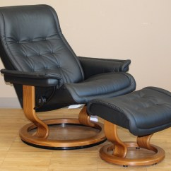 Stressless Chairs Humanscale Freedom Chair Royal Recliner Paloma Black Leather By