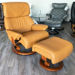 Large Leather Chair With Ottoman French Script Dining Stressless Spirit Dream Cori Tan Recliner And By Ekornes ...