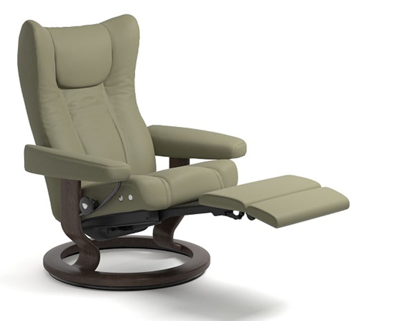brown leather recliner chair covers to buy uk stressless wing power legcomfort footrest by ekornes - ergonomic ...