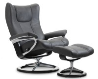 Stressless Wing Power LegComfort Footrest Recliner Chair ...