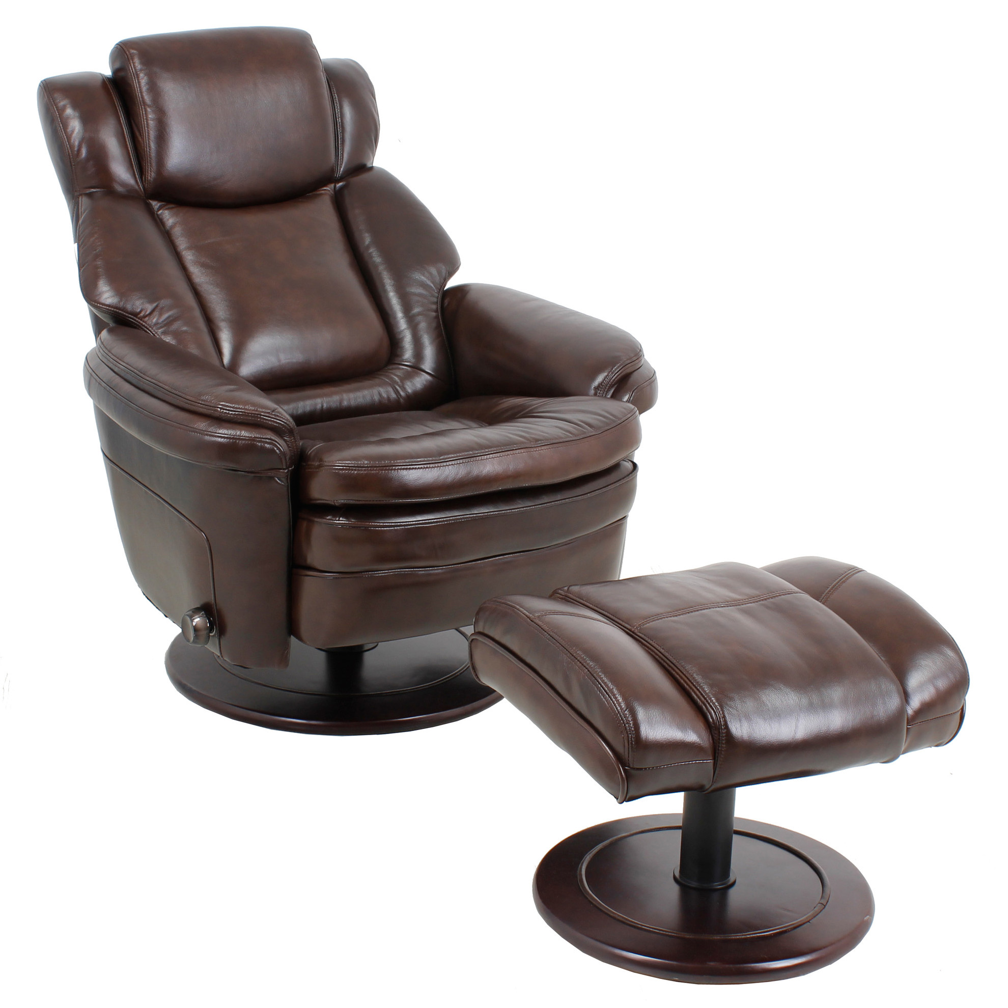 modern leather recliner swivel chair cool bean bag chairs barcalounger eclipse ii and ottoman