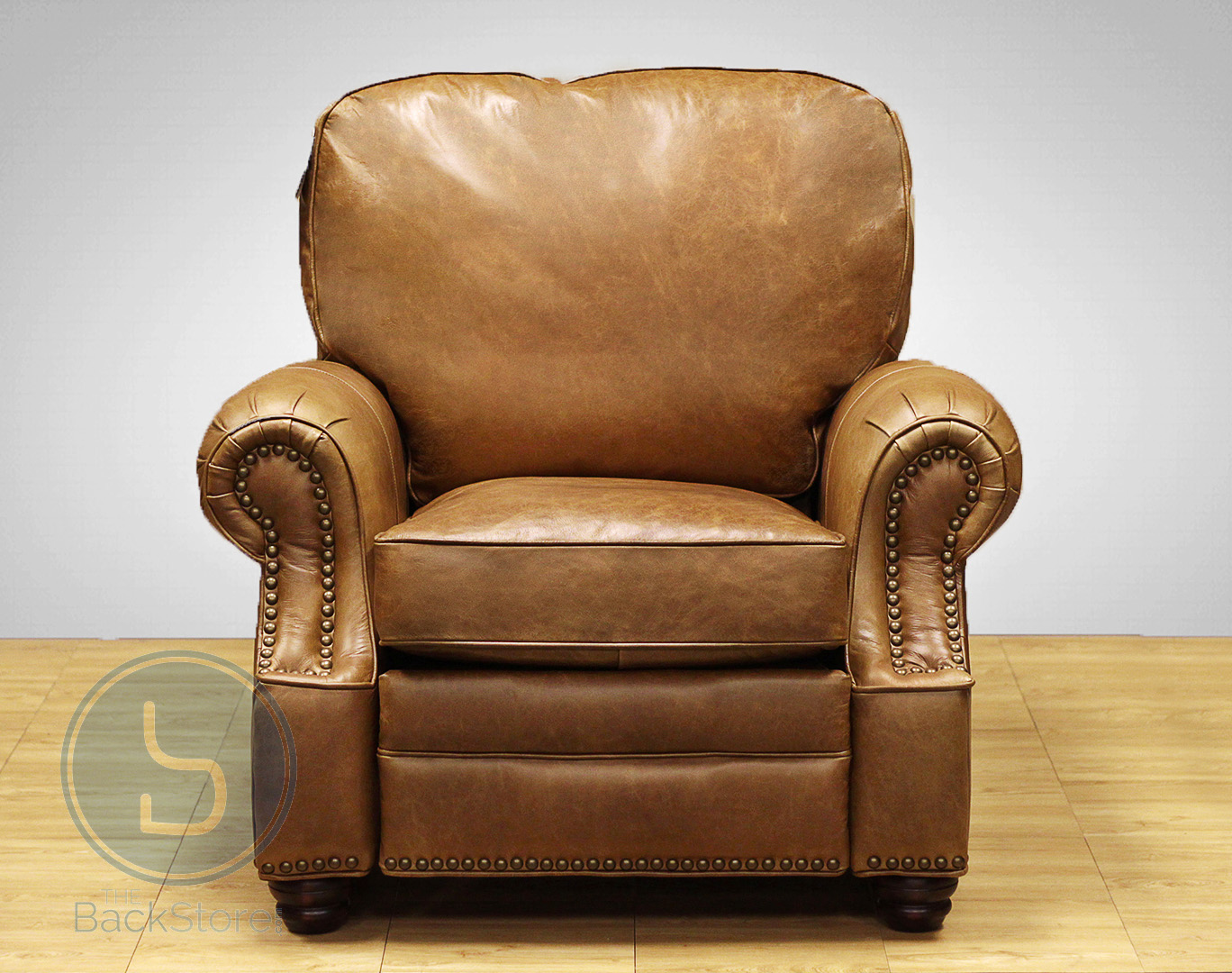 wood recliner chair washable kitchen cushions barcalounger longhorn ii leather