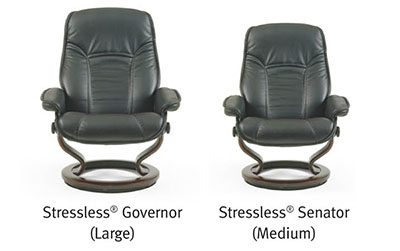 Ekornes Stressless Governor and Senator Recliner Chair