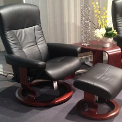 Grey Leather Sofas And Chairs Decorating Living Room Dark Brown Sofa Ekornes Stressless President Large Medium Recliner ...