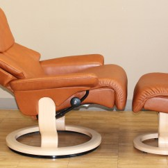 Leather Chair Ottoman Set Gym In A Stressless Dream Royalin Tigereye Recliner
