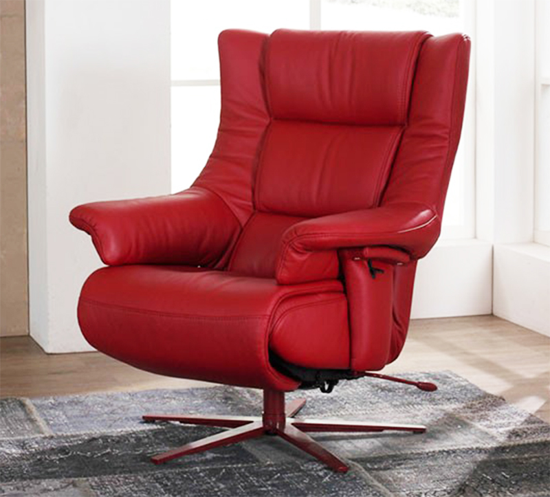red recliner chairs lawn chair repair kit himolla opus zerostress integrated leather 8500 36s