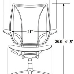 Desk Chair Size Spider Barber Humanscale Liberty Home Office Ergonomic Seating Freedom Front Dimesnions