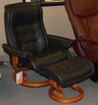 Stressless Royalin Black Leather by Ekornes - Stressless ...