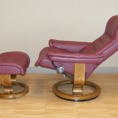 Ekornes Chair Accessories Grey Kitchen Covers Stressless Royal Paloma Winered Leather Recliner
