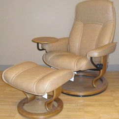 Reclining Chair With Ottoman Leather Exhibition Stand Ekornes Stressless Governor And Senator Recliner