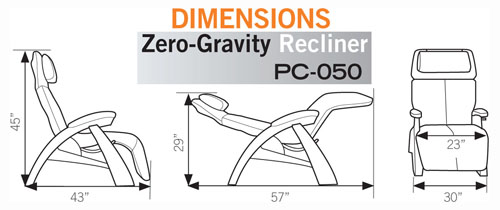PC-050 Perfect Chair Zero Gravity Recliner from Human