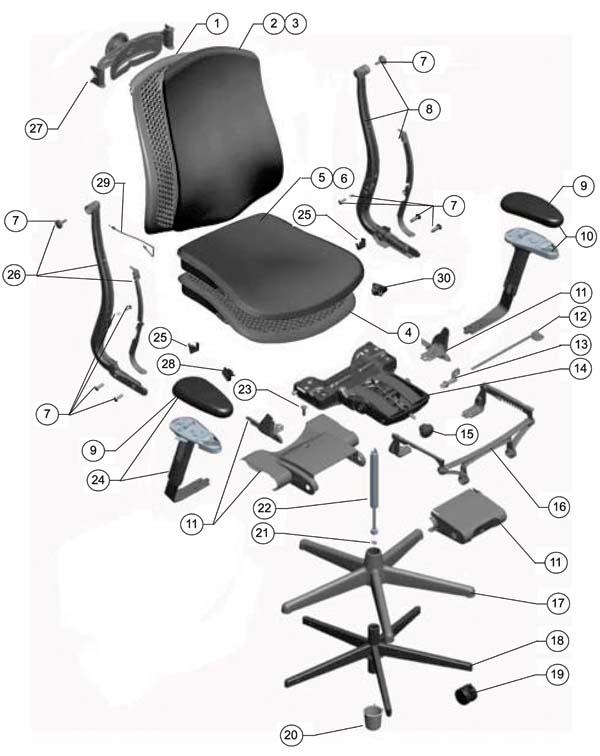 ergonomic chair and ottoman huntington corporation herman miller celle parts - authorized retailer warranty service center aeron, mirra ...