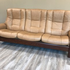 Taupe Color Leather Sofa The Store Stressless Buckingham 3 Seat High Back Paloma