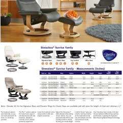 Stressless Chair Sizes Ergonomic Requirements Sunrise Recliner Lounger And Ottoman By Family