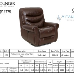 Chair Standards Mid Century Modern Club Barcalounger Dandridge Ii Lay Flat Wall Away Hugger Recliner - Leather ...