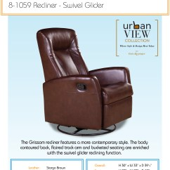 Swivel Chair Dimensions What Is The Purpose Of A Rail Barcalounger Grissom Ii Glider Recliner