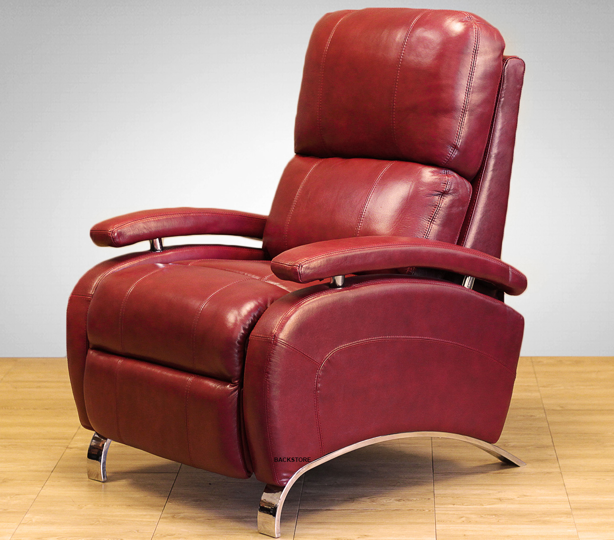 genuine leather chair ethan allen turner swivel barcalounger oracle ii recliner lounger