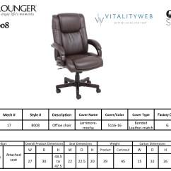 Ergonomic Chair Design Dimensions Office Carpet Barcalounger Titan Ii Home Desk Recliner