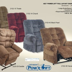 Power Lift Chair Ergonomic Vs Normal Catnapper Omni 4827 Recliner Lounger To 450lbs Colors
