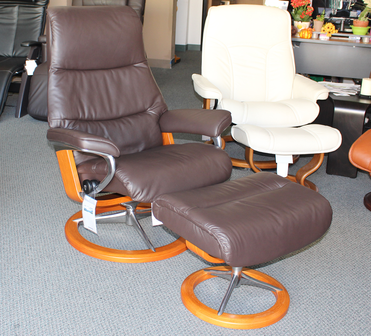recliner massage chair ergonomic north sydney stressless view paloma mocca leather