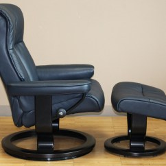 Ekornes Chair Accessories Snap On Glides Stressless Crown Cori Blue Leather Recliner