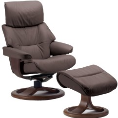 Ergonomic Chair And Ottoman Revolving For Kitchen Fjords Grip Leather Recliner 43