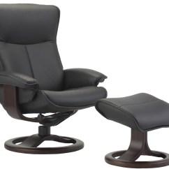 Swedish Leather Recliner Chairs Knoll Desk Chair Parts Fjords Senator Ergonomic 43 Ottoman