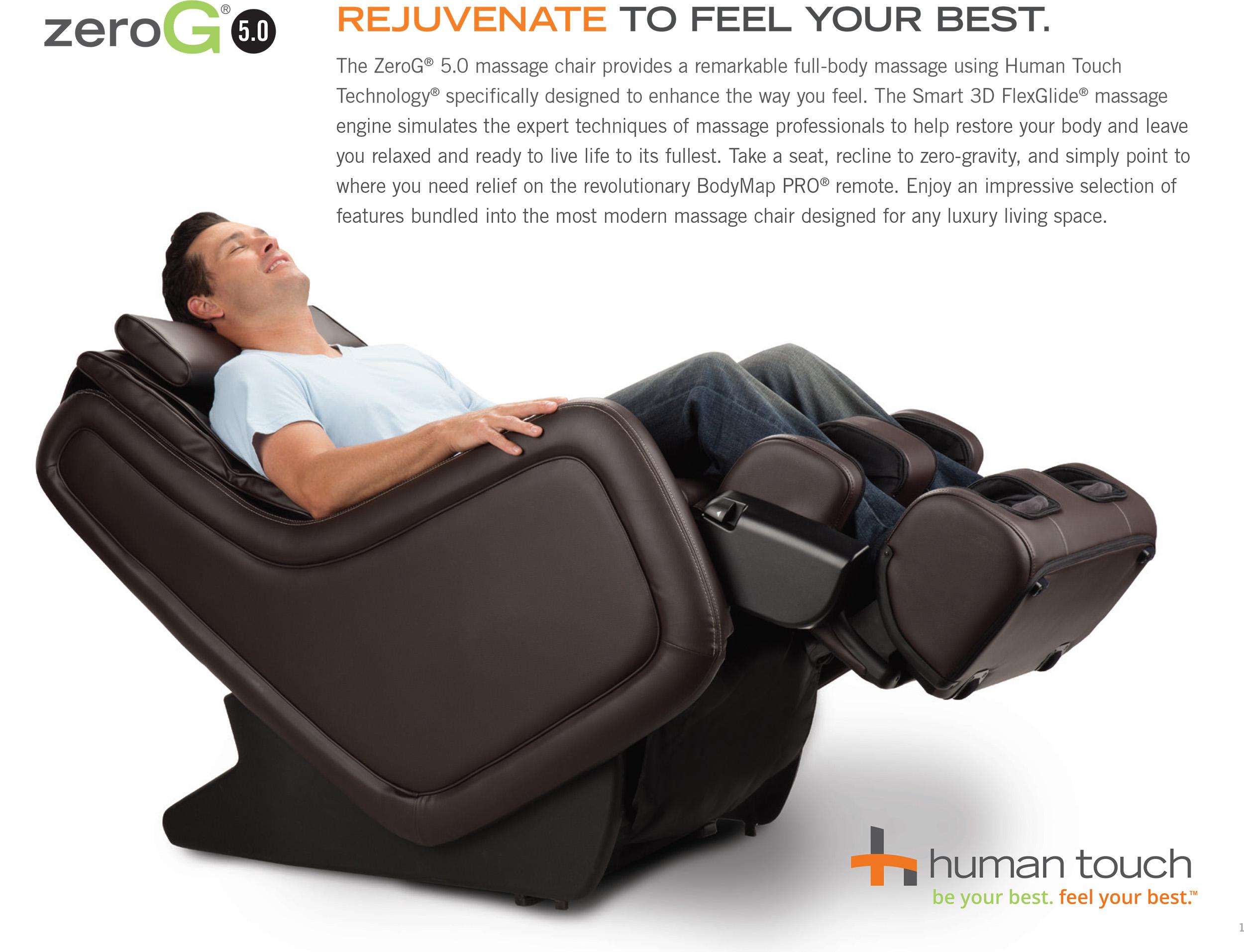 Human Touch ZeroG 50 Immersion Seat Massage Chair Zero