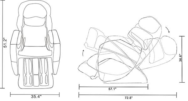 osaki os 3d pro cyber massage chair herman miller aeron parts zero gravity recliner black dimensions