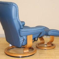 Kensington Leather Chair Wedding Covers Uk Stressless Large Mayfair Paloma Oxford Blue