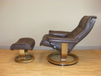 Stressless Royal Royalin Dark Brown Leather Recliner Chair